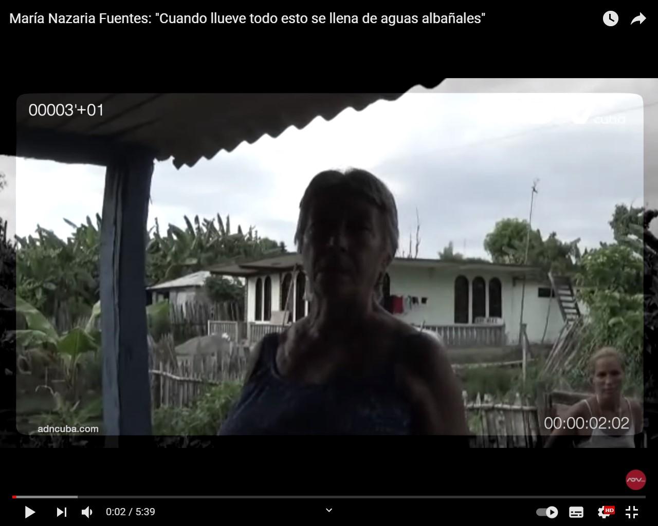 Denuncia cubana enferma que la lluvia inunda su casa de aguas albañales