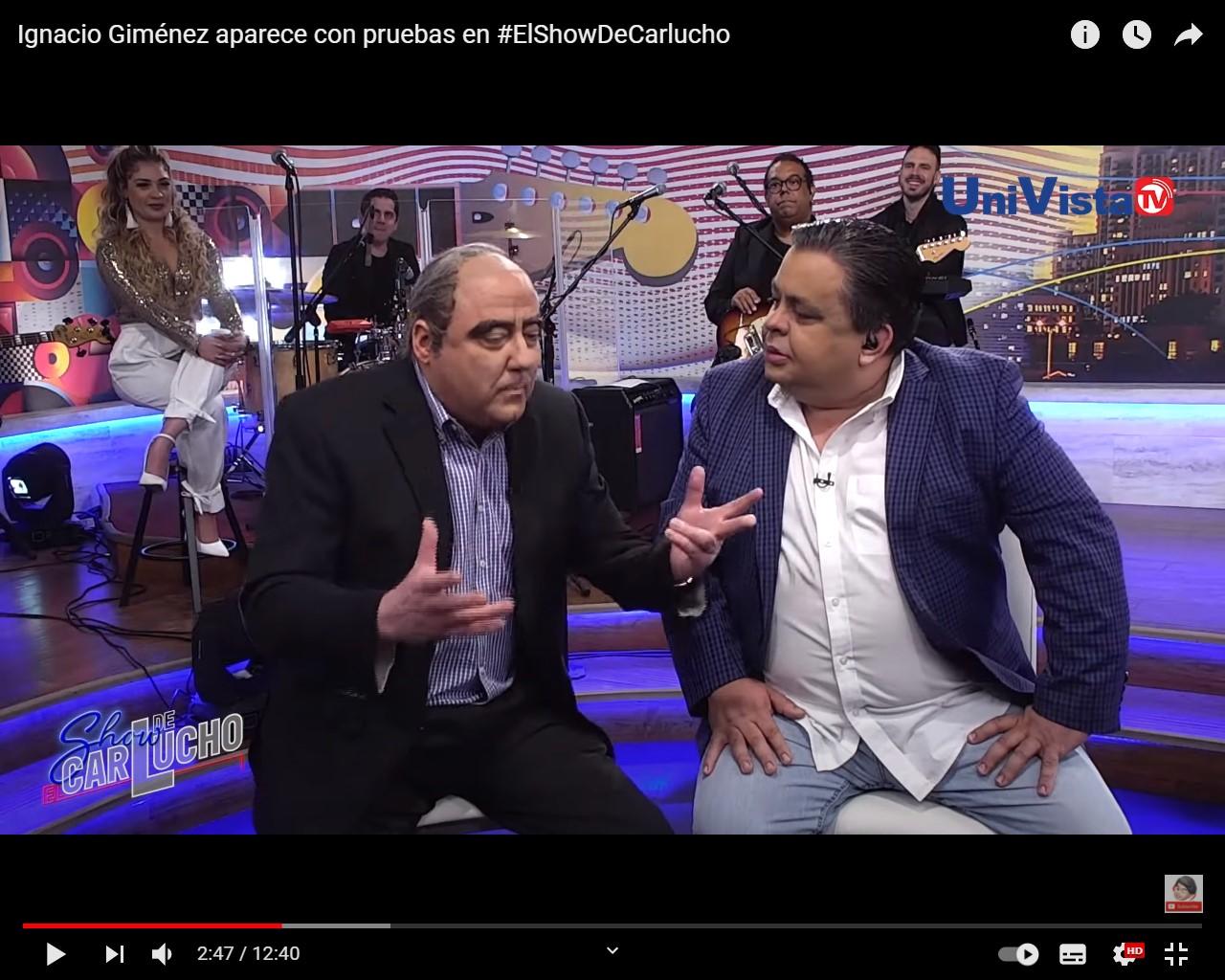 Ignacio Giménez dice a Carlucho que tiene pruebas